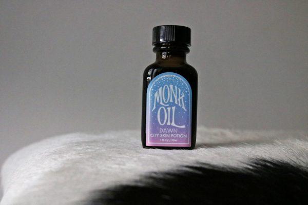 Monk Oil Dawn bottle