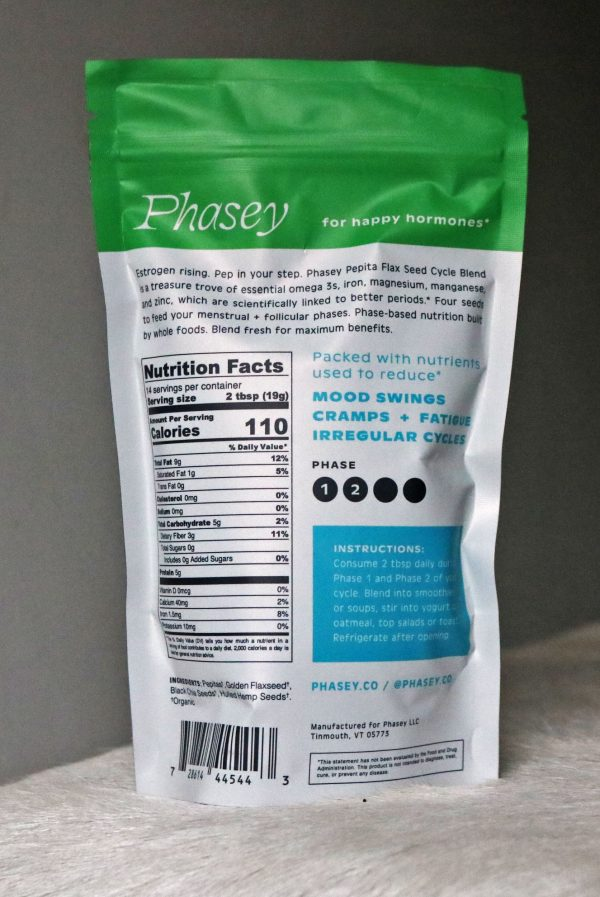 Phasey Pepita Flax Seed Cycle Blend back